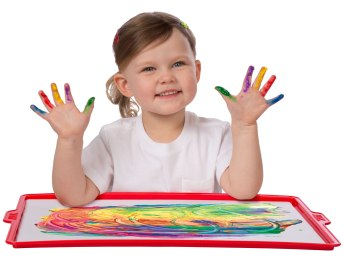 Finger Painting Paper and Tray