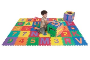 Play Mat - 6x6 Foam Letter Puzzle (36 pieces)- Special Needs Essentials
